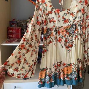 Free People long-sleeve flowy dress